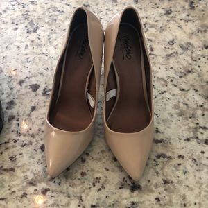 Mossimo Supply Co. Shoes - Mossimo Patient Leather (Faux) Nude Pumps